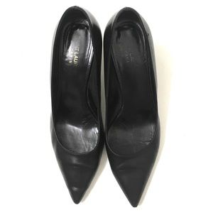 Saint Laurent Woman's Black Leather Heels